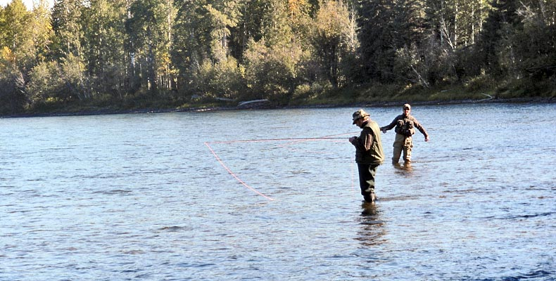 Fly fishing on the Bulkley in Smithers