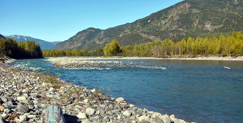 Nice stretch for steelhead fly fishing on the Copper