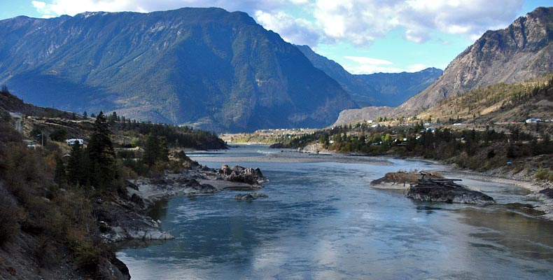 View of Lillooet on the Fraser