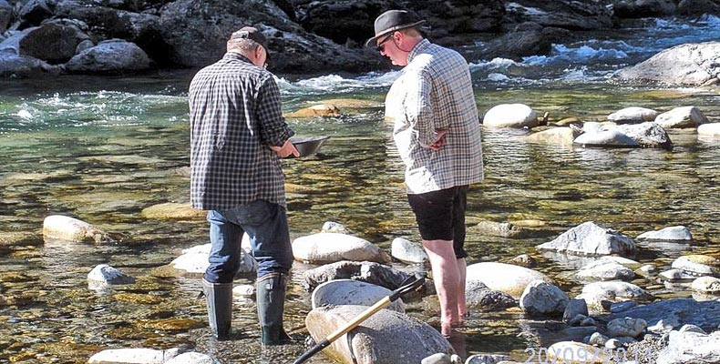 Gold panning at the Coquihalla river