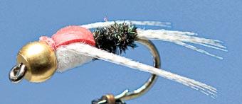 Mit der beste Köder beim Fliegenfischen, die Goldkopf Nymphe