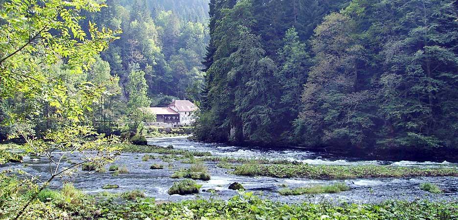 Die Mühle im Bild war vor vielen Jahren unsere Unterkunft