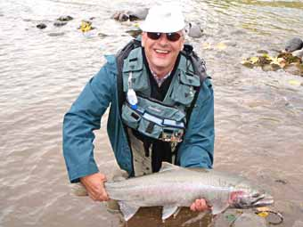 bulkley river steelhead caught by Wolfgang Fabisch during fly fishing