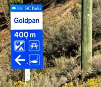the goldpan parking area