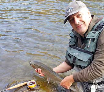 The second Steelhead during fly fishing