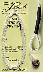 leader trout dry fine